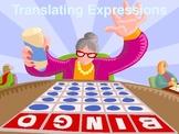 Translating Algebraic Expressions BINGO