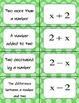 Translating Algebraic Expressions Card Matching Activity