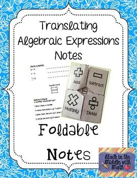 algebra foldables