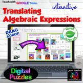 Translating Algebraic and Verbal Expressions Digital Match