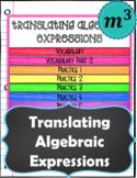 Translating Algebraic Expressions Notes & Quiz (FOR GOOGLE)