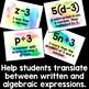 Translating Algebraic Expressions Posters, Word Wall