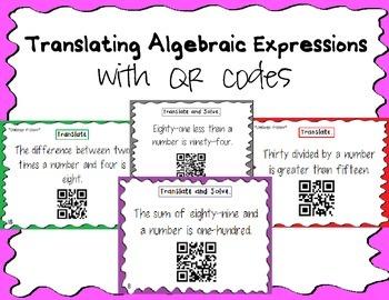Translating Algebraic Expressions with QR Codes