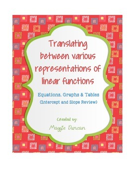 Translating Between Linear Functions