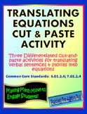 Translating Equations Matching Activity