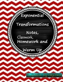 Translating Exponential Functions: Notes, Homework, Classw