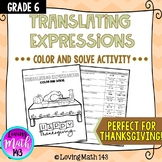 Translating Expressions: Color By Number Activity (Perfect for Easter)