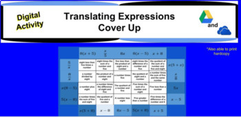 Translating Expressions Cover Up