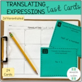 Translating Expressions & Equations Differentiated Task Ca