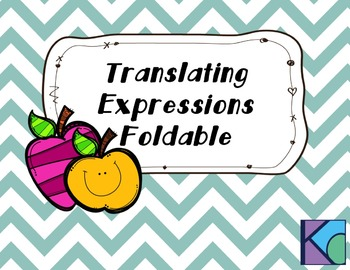 Translating Expressions Foldable