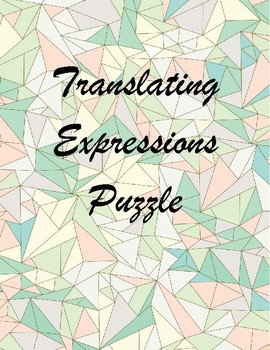 Translating Expressions Puzzle