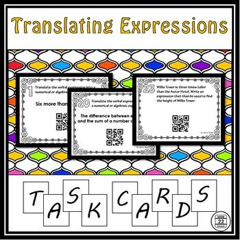 Translating Expressions Task Cards