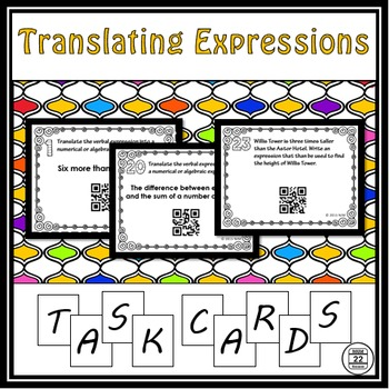 Translating Expressions Task Cards