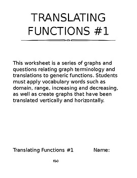 Translating Functions #1