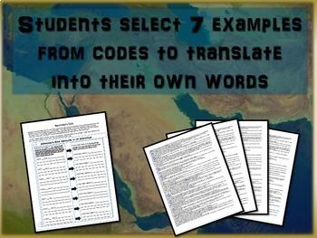 Translating Hammurabi's Code to Vernacular: Mesopotamia Primary Source Activity
