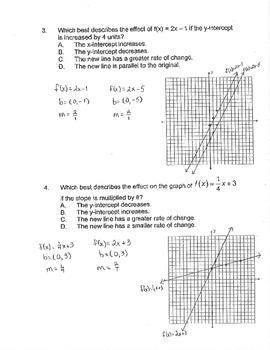 Algebra: Translating Linear Functions 2