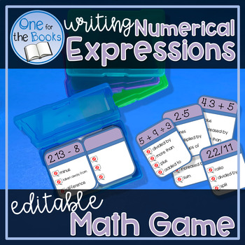 Writing Numerical Expressions