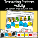 Translating Patterns using Math Manipulatives Kindergarten Activity