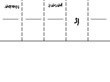 Translating Percent of a Number Foldable