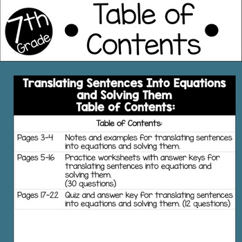 Translating Sentences Into Equations and Solving Them