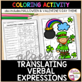Translating Algebraic Expressions HALLOWEEN Algebra Coloring Activity