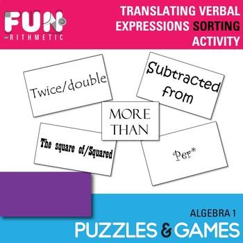 Translating Verbal Expressions Sorting Activity