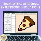 Translating Verbal Expressions and Equations Digital Pixel Art