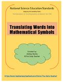 Translating Words Into Mathematical Symbols
