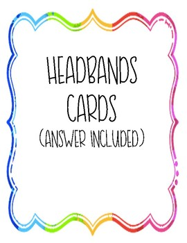 Translating Words into Expressions Headbands/Task Cards