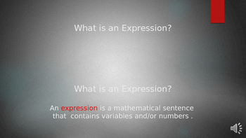 Translating Words into Expressions Powerpoint