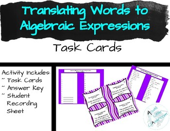 Translating Words to Algebraic Expressions