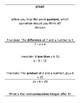 Translating Words to Equations (Scavenger Hunt)