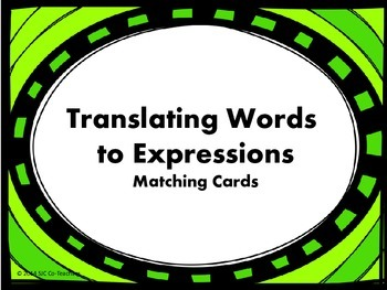Translating Words to Expressions Matching Cards