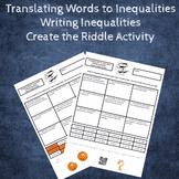 Translating Words to Inequalities (Writing Inequalities) C