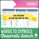Translating Words to Symbols Activity : Classmate Search A