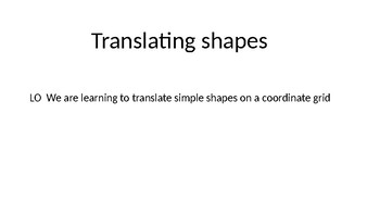 Translating shapes