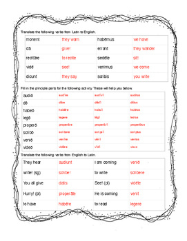 Translating with the Present Tense Packet