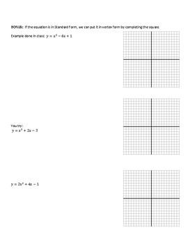 Translation Exploration:  Parabolas