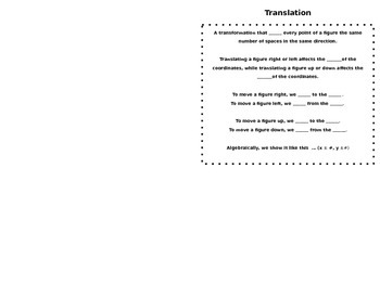 Translation Foldable/Booklet