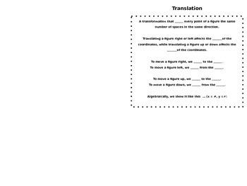 Translation Foldable/Booklet