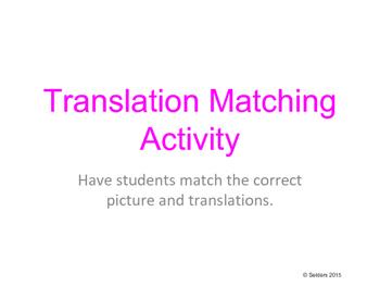 Translation Matching Activity