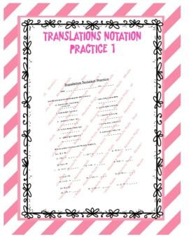 Translation Notation Practice 1