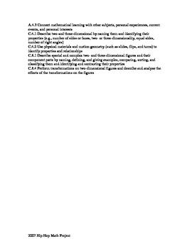 Translation Reflection Rotation Rap and Lesson Plan