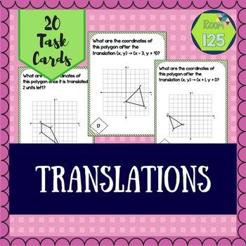 Translation Task Cards (Transformations)
