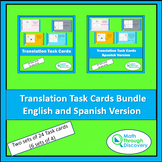 Geometry - Translation Task Cards Bundle