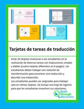 Translation Task Cards (Spanish Version)