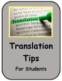 World Language Translating Tips & Guide Spanish/English
