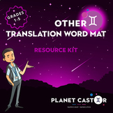 Translation Word Mat Kit | Quick to Hand Topic & Key Words
