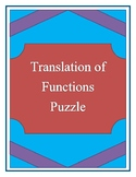 Translation of Functions Puzzle