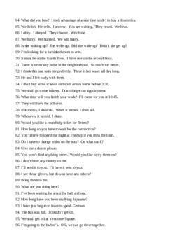 Translation Sentences